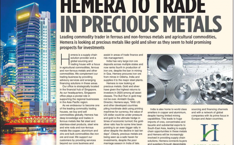 Hemera to Trade In Precious Metals