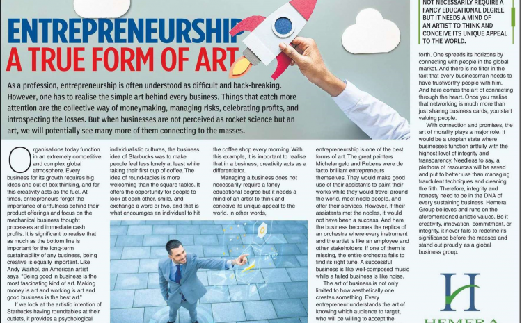 Entrepreneurship – A True Form of Art