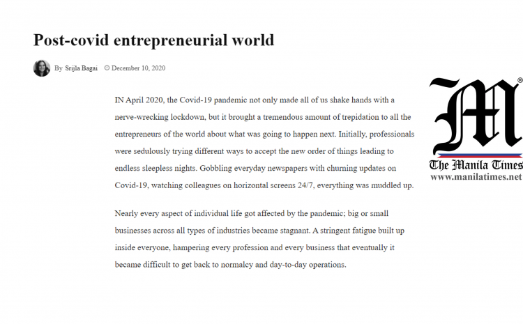 Post-covid Entrepreneurial World